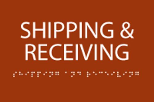 Shipping & Receiving ADA Sign