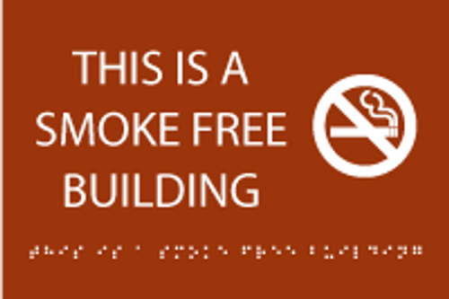 This is a Smoke Free Building ADA Sign
