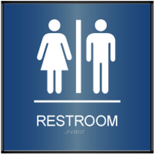 ADA Curved Unisex Restroom Sign