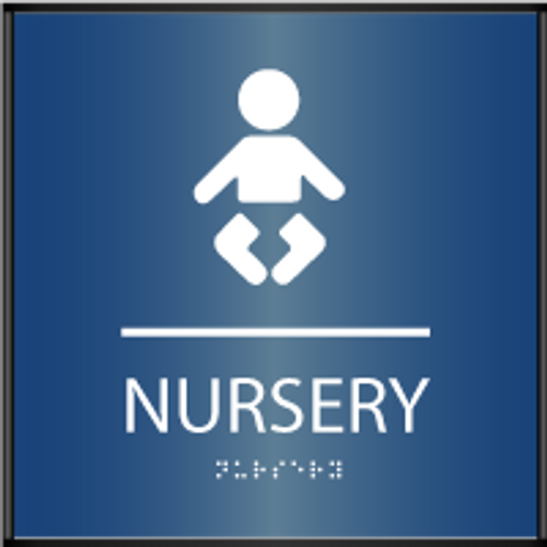 Curved ADA Nursery Sign