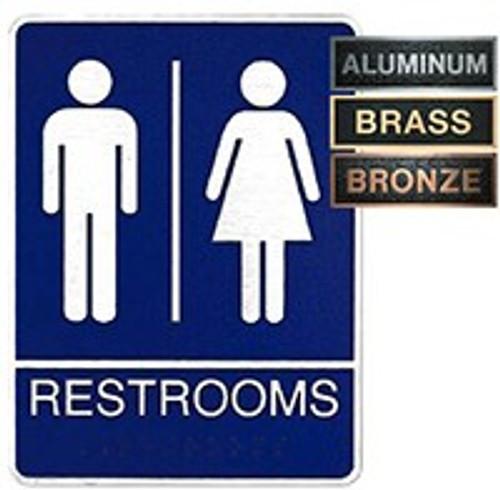 Metal ADA Unisex Restroom Plaque