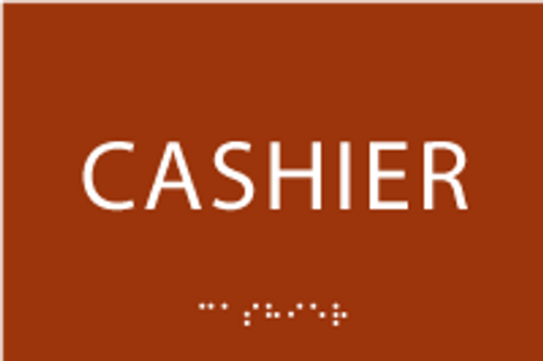 Cashier ADA Sign
