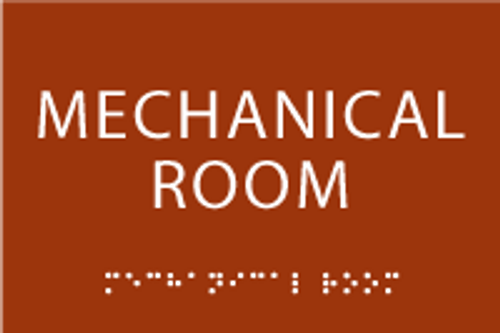 Mechanical Room ADA Sign