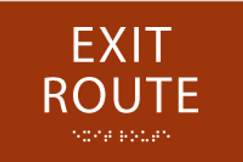 Exit Route ADA Sign