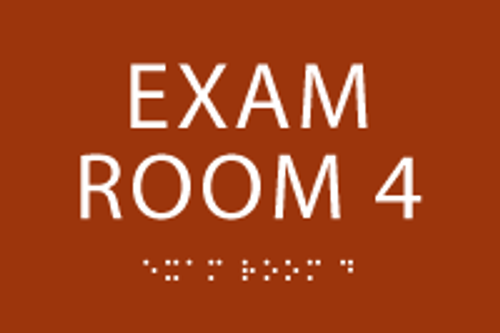 Exam Room 4 ADA Sign