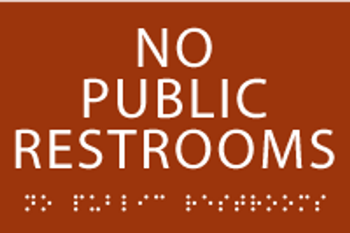 No Public Restrooms ADA Sign