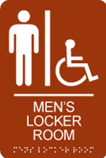 Men's Accessible Locker Room ADA Sign
