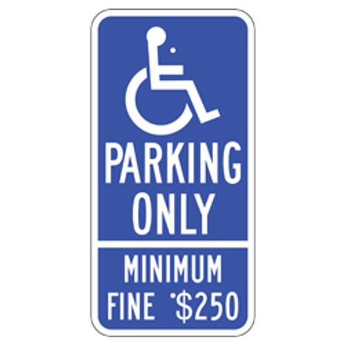 California Handicap Parking Only Sign