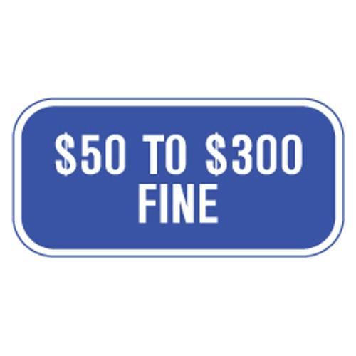 Missouri Handicap Parking Fine Sign - Blue