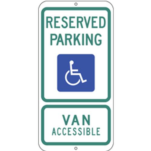 Texas Handicap Reserved Parking Sign