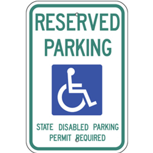 Washington Handicap Reserved Parking Sign