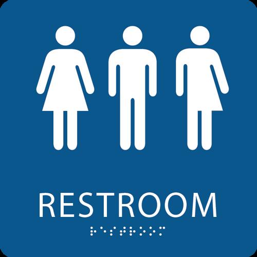 Unisex Transgender ADA Restroom Sign