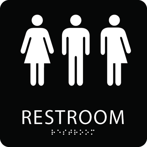 Gender Neutral ADA Restroom Sign