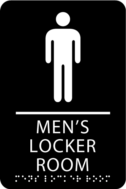 "ADA Men's Locker Room Sign - 6"" x 9"""