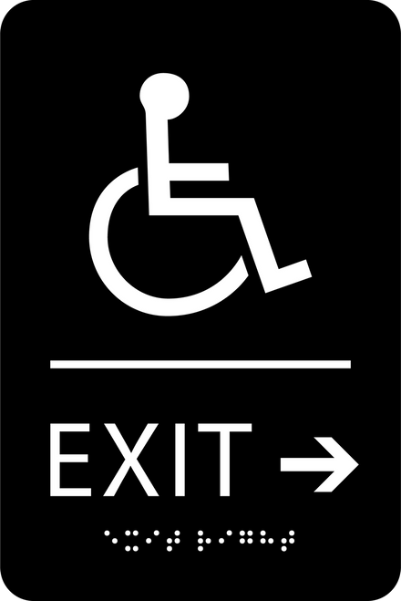Exit Right ADA Sign