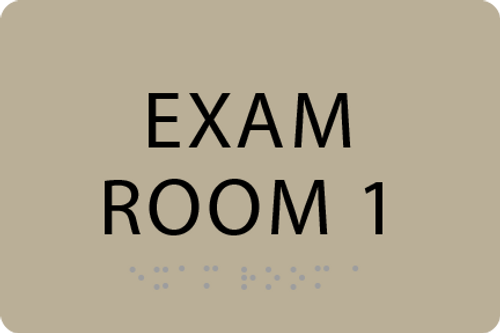ADA Exam Room 1 Sign