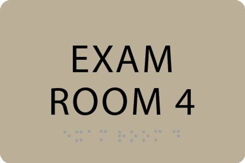 ADA Exam Room 4 Sign