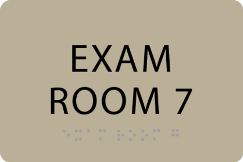 ADA Exam Room 7 Sign