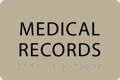 ADA Medical Records Sign