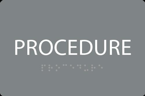 ADA Procedure Sign
