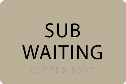 ADA Sub Waiting Sign