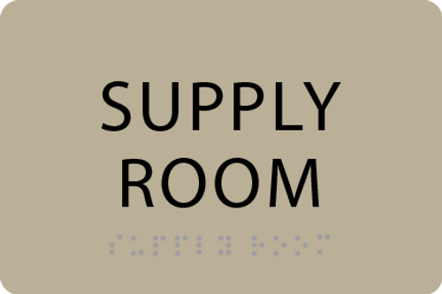 ADA Supply Room Sign