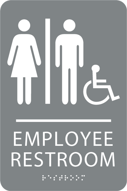 ADA Accessible Employee Restroom Sign