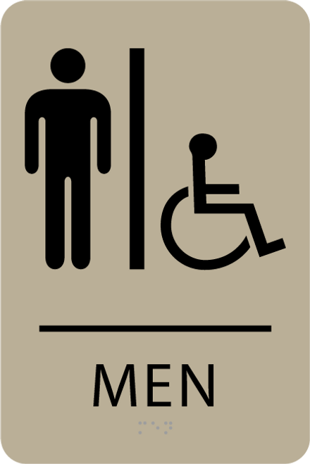 ADA Men Accessible Restroom Sign