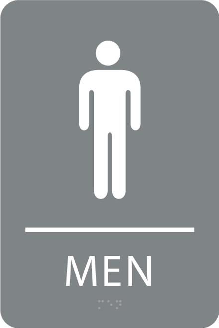 ADA Men Restroom Sign