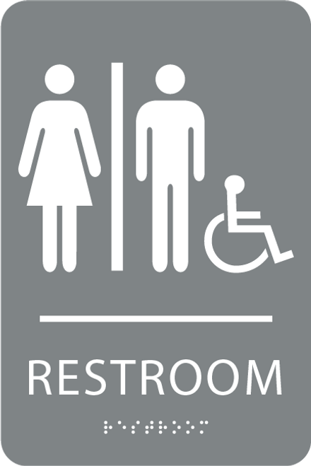 ADA Unisex Accessible Sign