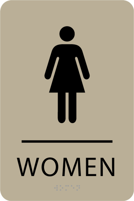 ADA Women Restroom Sign
