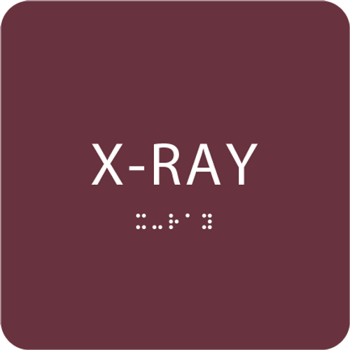 "X-Ray ADA Sign - 6"" x 6"""