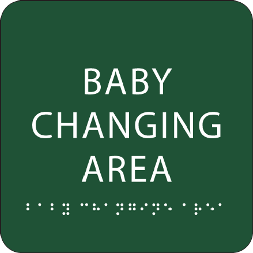 "Baby Changing Area ADA Sign - 6"" x 6"""