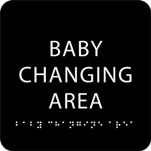 Black Baby Changing Area ADA Sign