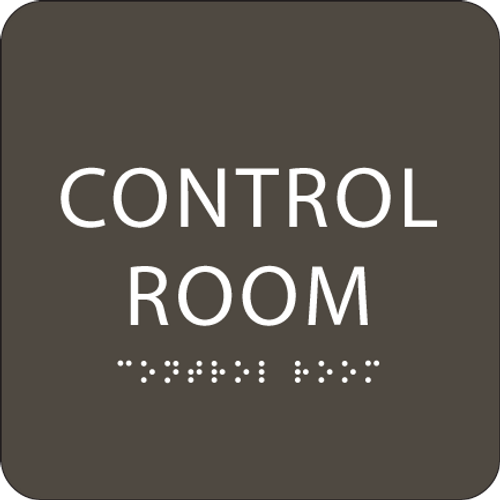 "Control Room ADA Sign - 6"" x 6"""