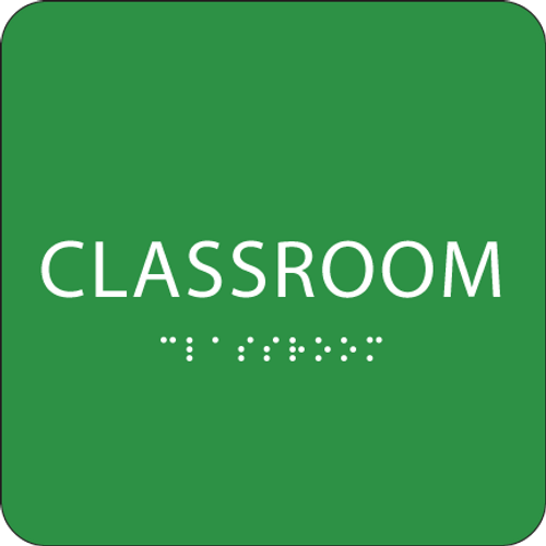 Green Classroom ADA Sign
