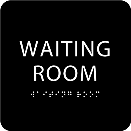 Black Waiting Room ADA Sign