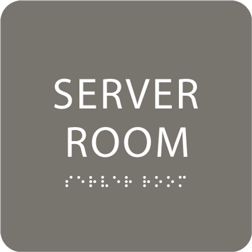 "Server Room ADA Sign - 6"" x 6"""