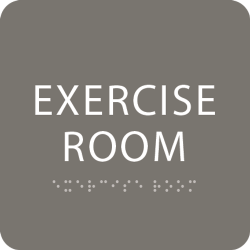 Dark Grey Exercise Room ADA Sign