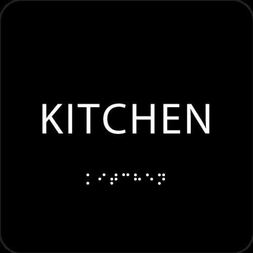 Black ADA Kitchen Sign
