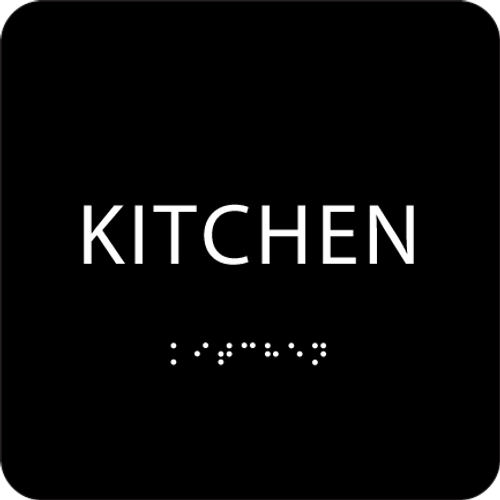 Black ADA Kitchen Sign