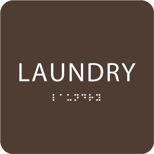 Dark Brown Laundry ADA Sign