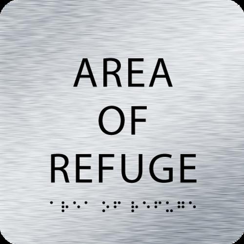Aluminum Area of Refuge ADA Sign