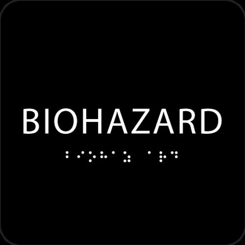 Black Biohazard ADA Sign
