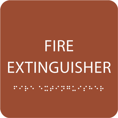 Orange Fire Extinguisher ADA Sign