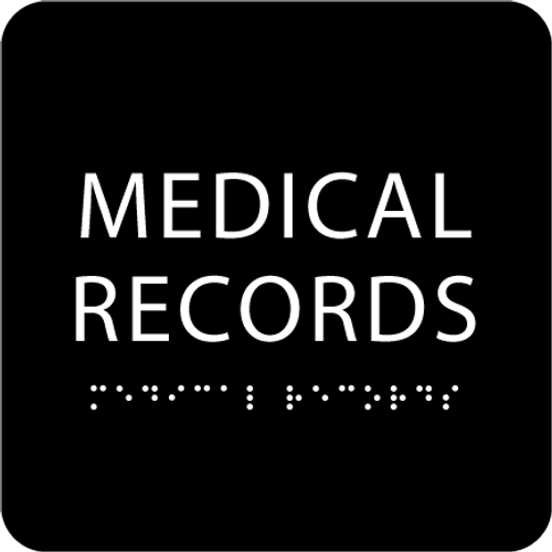 Black Medical Records ADA Sign