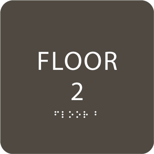 Olive Floor 2 Identification Sign