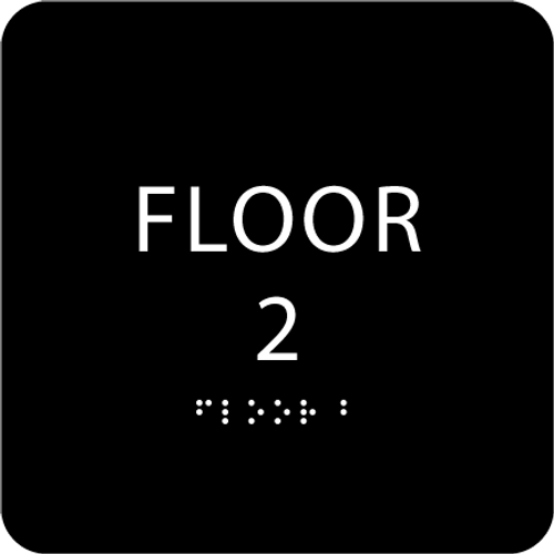 Black Floor 2 Identification Sign