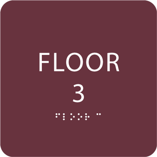 Burgundy Floor 3 Identification Sign