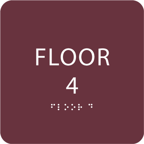 Burgundy Floor 4 Identification Sign